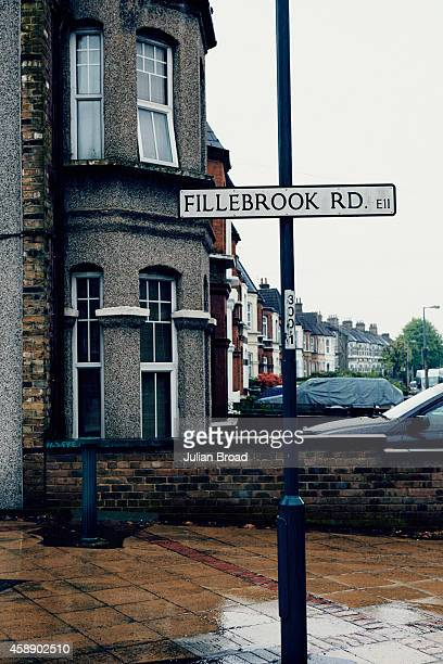 A street in Leytonstone the neighbourhood where singer and musician Damon Albarn grew up Photographed for BA High Life magazine on April 1 2014 in...