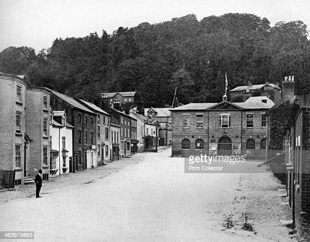A street in Montgomery Wales 19241926 A print from Hutchinson's Britain Beautiful edited by Walter Hutchinson volume III 19241926