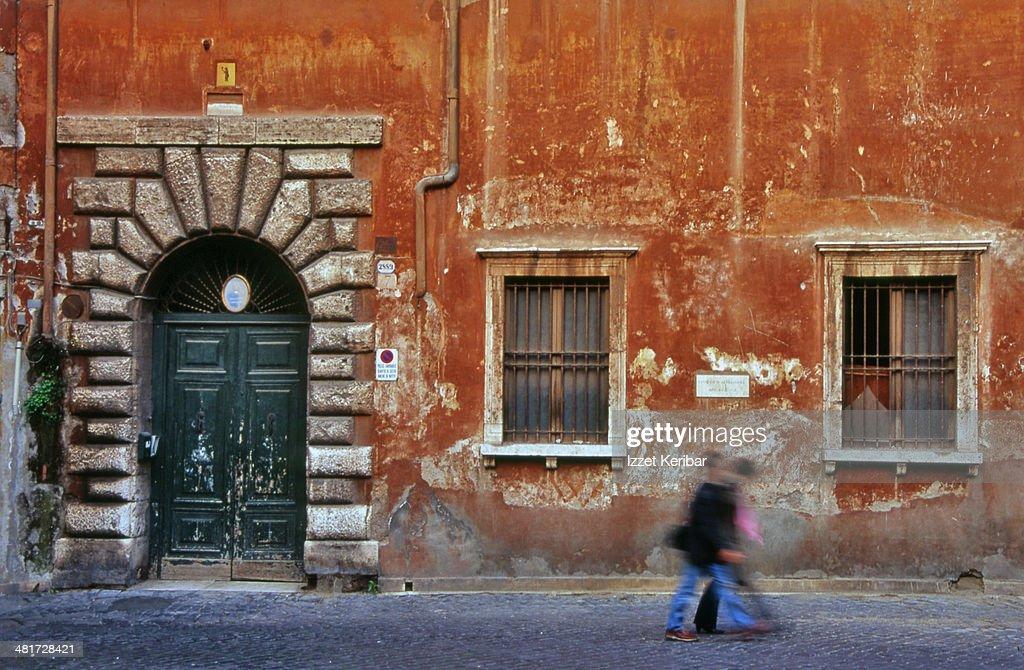 A Street in Trastevere, Rome, Italy