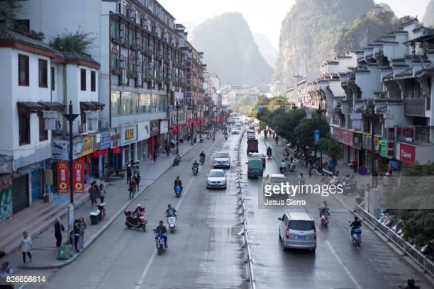 street in Yangshuo, Guangxi Province, China