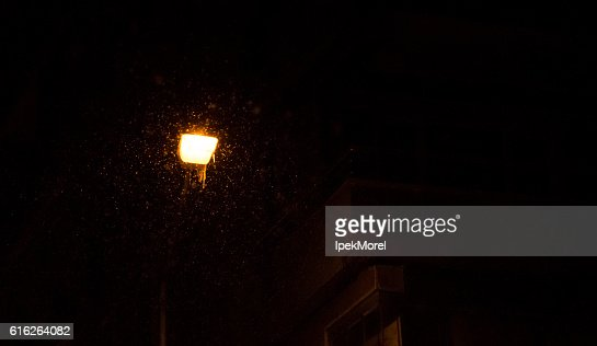 Street Lamp With Icicle and Snowflakes : Stock Photo