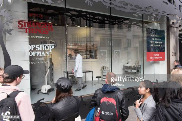 Street life view of the iconic Oxford Street London on October 20 2017 The official data showed that UK retail sales fell more than expected