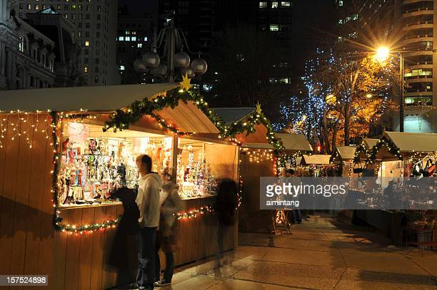 Street Mall at Christmas Time in Philadelphia