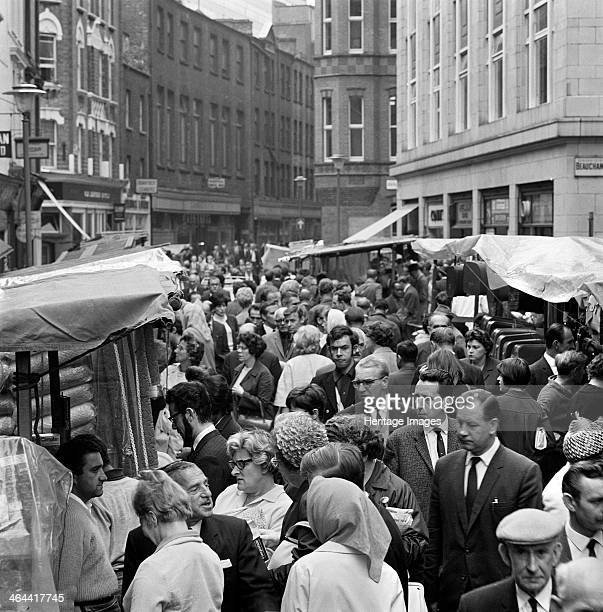 Street market at Leather Lane Holborn London 1960s