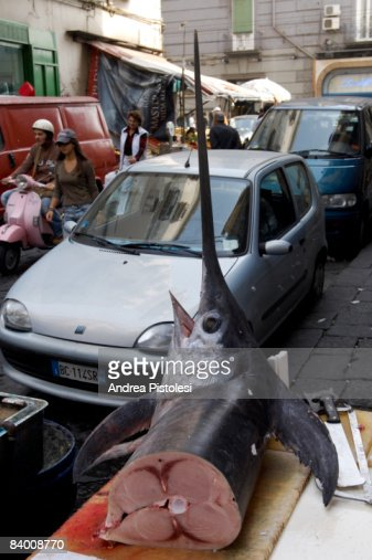 Street market in Naples, Italy : Stock Photo