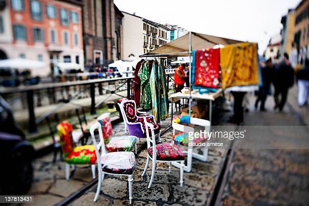 Street Market - Milano. Color Image