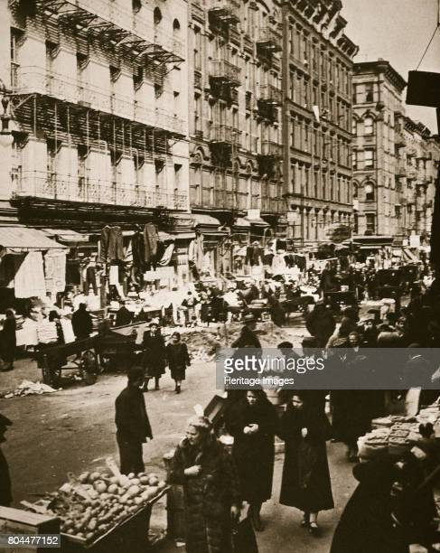 Street market on Orchard Street Lower East Side New York USA early 1930s
