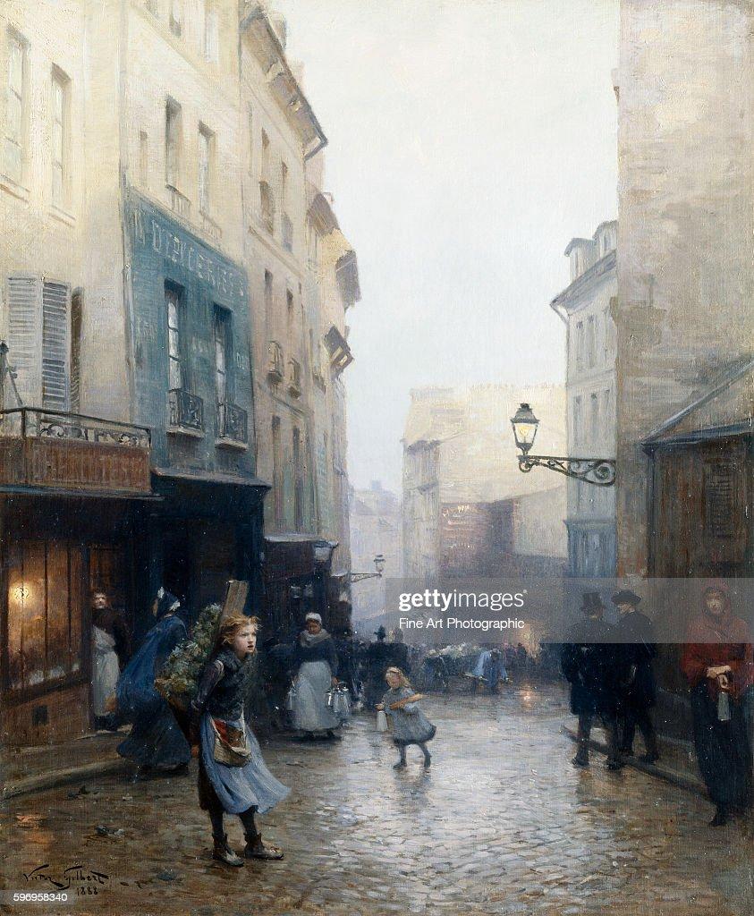 A Street Market Paris France by Victor Gabriel Gilbert