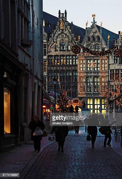 Street next to The Grote Markt Antwerp, Belgium