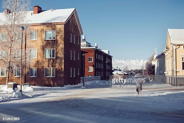 Street of Kemi at winter, Lapland