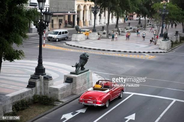 Street of Prado Havana in Cuba
