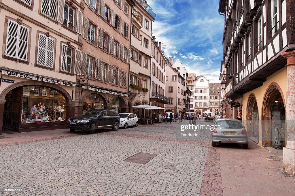 Street of Strasbourg Alsace France : Foto de stock
