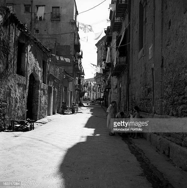A street of 'Vucciria' quarter Palermo 1956