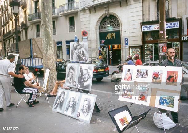 Street painter Madrid Spain
