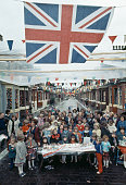 A street party is held to celebrate the Silver Jubilee of Queen Elizabeth II England 1977