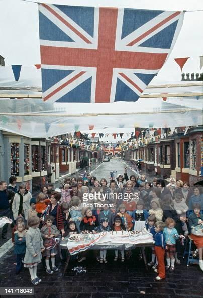 A street party is held to celebrate the Silver Jubilee of Queen Elizabeth II England 1977