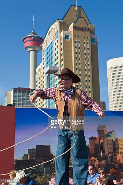Street performer, Calgary Stampede, Alberta, Canada