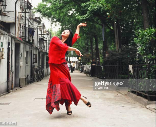 Street Performer Dancing in Shanghai