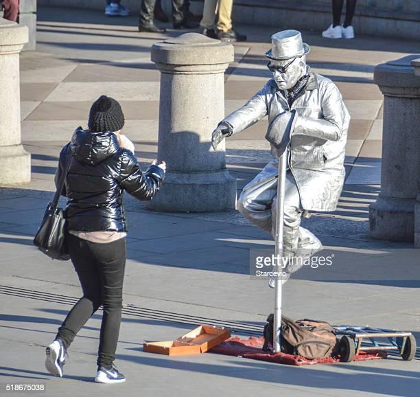 Street performer in London