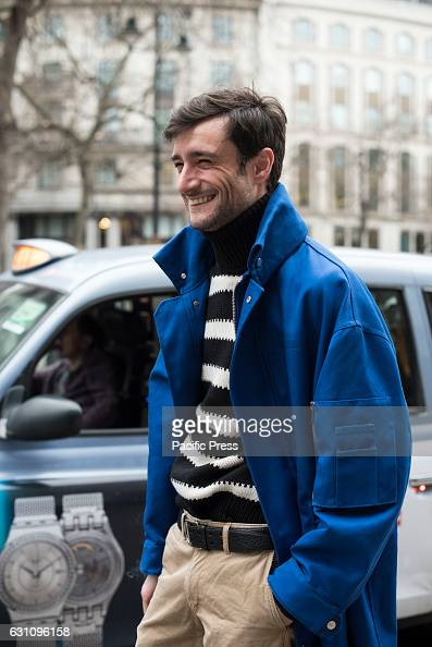 Street photography at London Fashion Week Men's 2017 Professional and amateur models pose outside the catwalks at King's College to show their...
