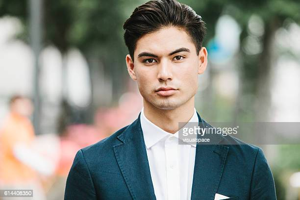 Street Portrait of an Asian Businessman