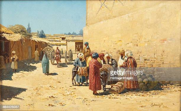 Street sale in Central Asia 1902 From a private collection