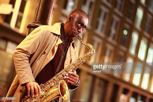 Street sax player