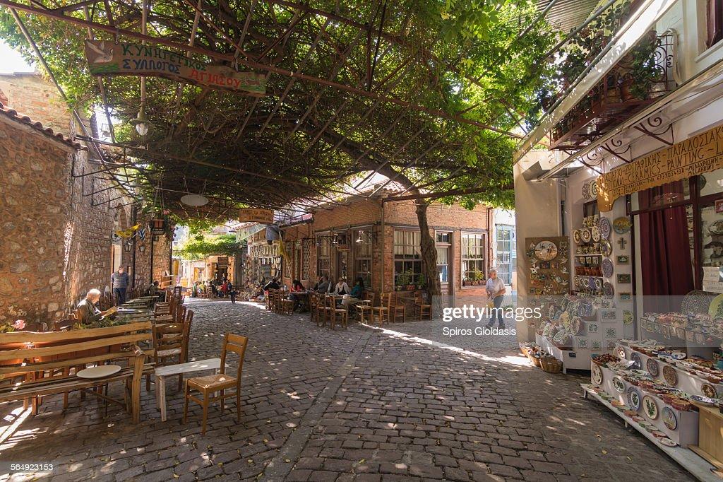 Street scene, Agiasos : Foto de stock