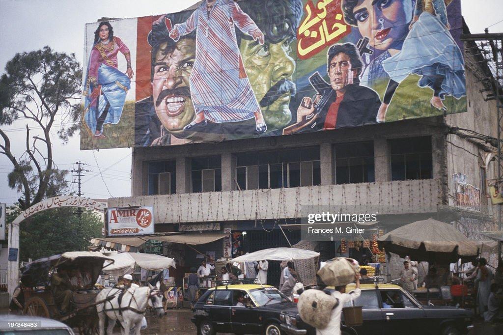 Street scene along Hamilton Road in Rawalpindi Pakistan April 1993