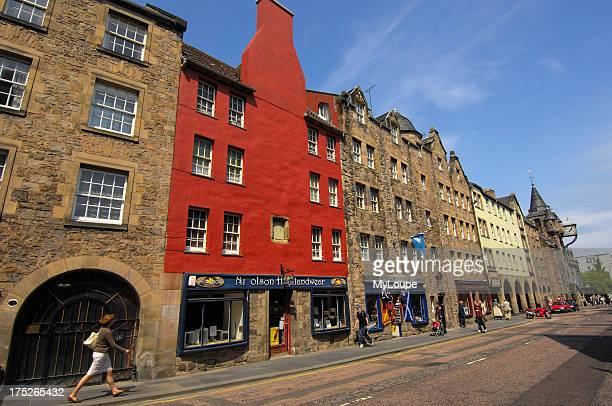 Street scene at Royal Mile Canongate Tolbooth Edinburgh Lothian Region Scotland UK
