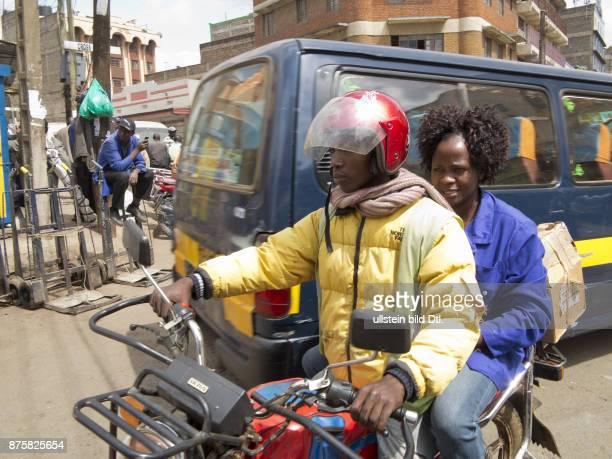 Street scene downtown Nairobi Kenya