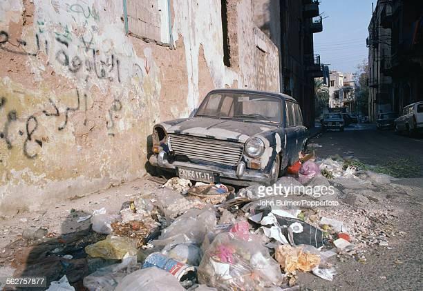 A street scene in Beirut Lebanon 1979