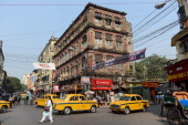 A street scene in downtown Kolkata on December 1 2012 in Kolkata India