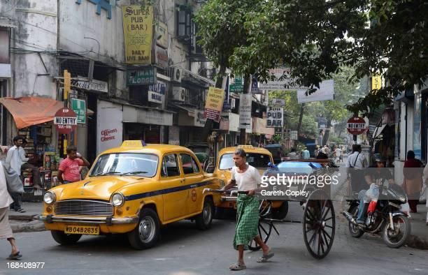 A street scene in downtown Kolkata on December 1 2012 in Kolkata India