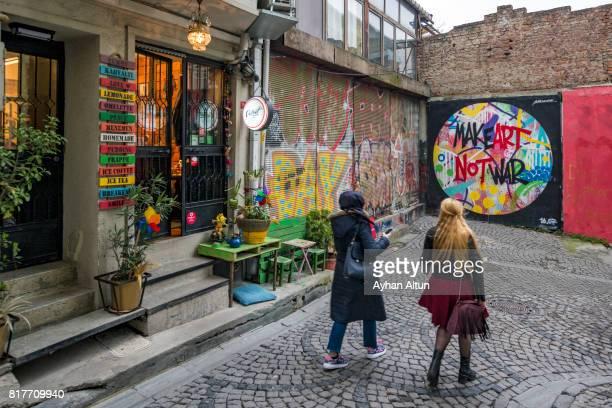 A street scene in Galata neighborhood,Beyoglu,Istanbul,Turkey