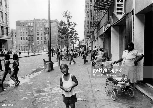 A street scene in Harlem New York City