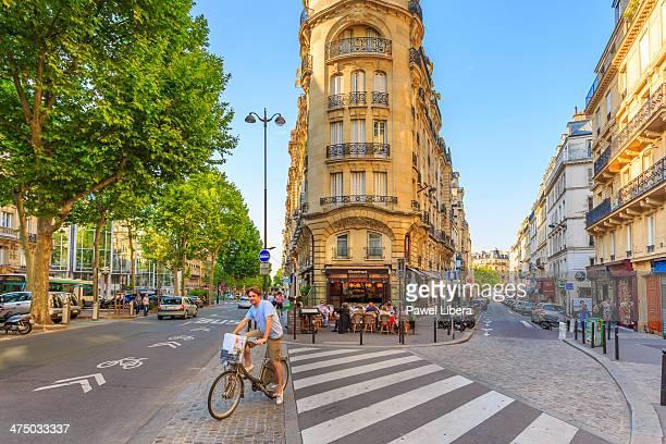 Street scene in Montparnasse.
