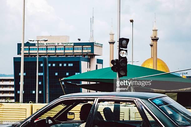 Street scene in the centre of Abuja, Nigeria.
