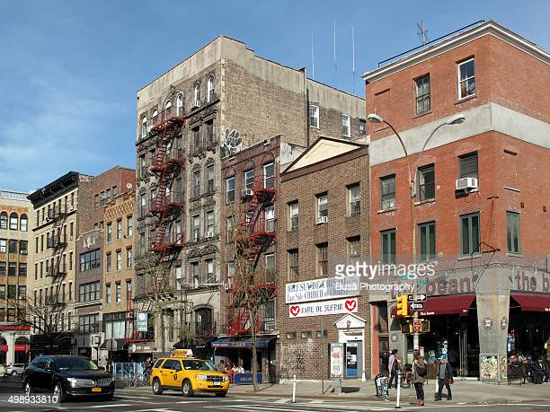 Street scene in the East Village, 2nd Avenue and East 3rd Street, Manhattan, New York City, USA