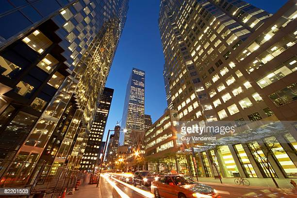 Street scene in the Financial District of Toronto.