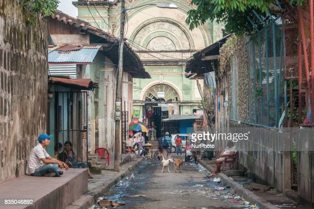 A street scene in the povertystricken city of Granada Nicaragua which is also a popular tourist destination for its colonial architecture Photo taken...