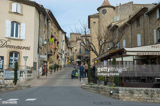 A street scene in the village of ChateauneufduPape which is in the Vaucluse department ProvenceAlpesC��te d'Azur region in southeastern France