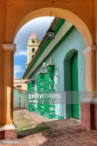 Street scene in Trinidad Cuba