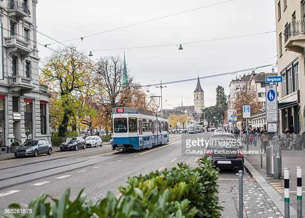 Street scene, Limmatquai, Zurich, Switzerland