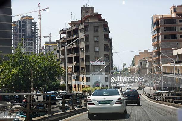 Street Scene traffic in Beirut on May 30 in Beirut Lebanon