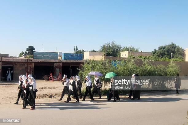 street scenery in MazareSharif school girls