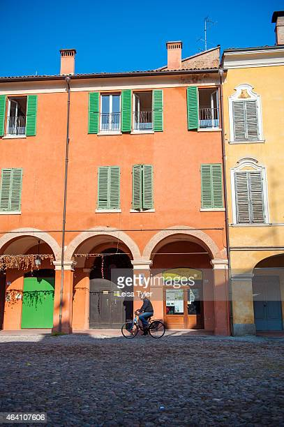 Street scenes from the town of Modena a small town in Emelia Romagne in Italy Modena was founded in the 3rd century BC