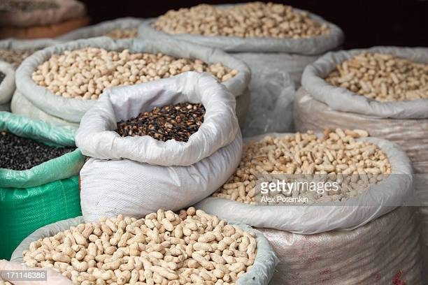 Rue des graines magasin. La cuisine chinoise, Kunming, province du Yunnan, au sud de la Chine.