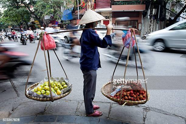 Street seller. Hanoi. Vietnam.