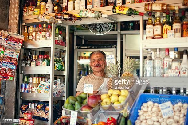Street Shop Around The Corner in Valetta, Malta